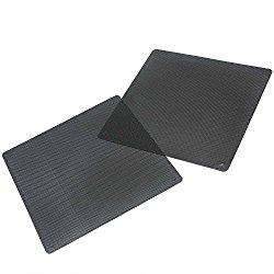 2 Pcs Black PC Fan Dust Filter Plastic Dustproof Computer Case Mesh 140x140mm
