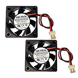 2packs 40mm x 40mm x 10mm 4010 12V 0.15A Brushless DC Cooling Fan 2pin AB4010M12 UL TUV