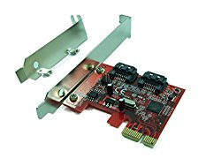 Ableconn PEX-SA115 2-Port SATA 6G PCI Express Host Adapter Card – AHCI 6Gbps SATA III PCIe 2.0 Controller Card (Marvell 88SE9128 Chipset) – Support Hardware RAID 0, 1