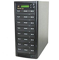 Copystars DVD Burner Duplicator 24X CD-DVD-Burner 1 to 7 Copier Writer Duplicator Tower SYS-1-7-ASUS-CST