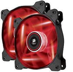 Corsair Air Series AF120 LED Quiet Edition High Airflow Fan Twin Pack – Red