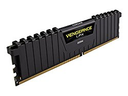 Corsair Vengeance LPX 16GB (2x8GB) DDR4 DRAM 2400MHz (PC4-19200) C14 Memory Kit – Black
