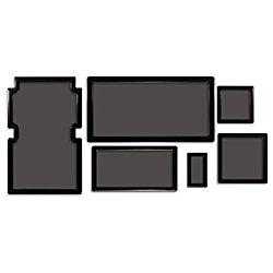 DEMCiflex Dust Filter Kit for Corsair Obsidian 350D (6 Filters), Black Frame, Black Mesh