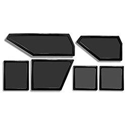 DEMCiflex Dust Filter Kit for NZXT Phantom 410 (6 Filters), Black Frame, Black Mesh