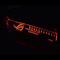 Emperor's Magic Universal Acrylic GPU Brace Graphics Card Bracket with RGB LED lights ROG