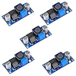 Gowoops 5PCS of Boost Converter Module XL6009 3-30V to 4-35V DC-DC Output Voltage Adjustable Step up Circuit Board 400KHz Big Current 4A