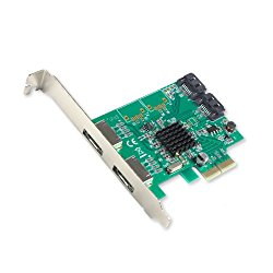 IO Crest SI-PEX40063 2 Port SATA III 2 Port eSATA III PCIe 2.0 X2 Card