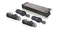 IOGEAR 4-Port DVI KVMP Switch with Audio and 4-USB 2.0, DVI-D KVM Cables, GCS1104