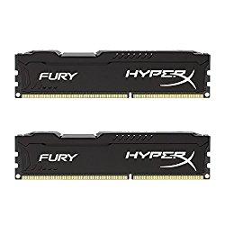 Kingston HyperX FURY 16GB Kit (2x8GB) 1866MHz DDR3 CL10 DIMM – Black (HX318C10FBK2/16)