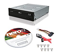 LG WH14NS40 14X Internal Blu-ray M-DISC Burner 3D Playback + free Nero 12 Essentials Burning Software + Sata Cable Kit