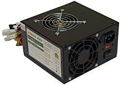 Logisys 550W 20/24-Pin Black Dual Fan Switching Power Supply PS550A-BK
