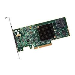 LSI Logic MegaRAID 9341-8i Single 8Port SATA/SAS PCI Express 3.0 12Gb/s Low Profile Controller Card Brown Box LSI00407