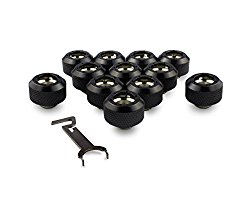 PrimoChill 1/2in. Rigid RevolverSX Series Fitting – Satin Black – 12 Pack