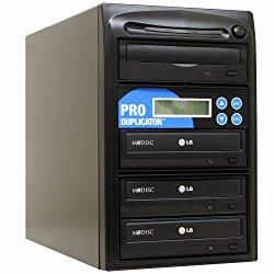 Produplicator 1 to 3 24X CD DVD Duplicator Copier (M-Disc Support Burner) with Nero Essentials CD/DVD Burning Software