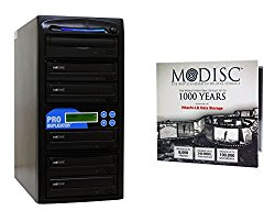 Produplicator 1 to 5 M-Disc Support CD DVD Duplicator Bundle with 1 Pack M-DISC DVD and Nero Burning Software (Upto 24X DVD Burn Speed)