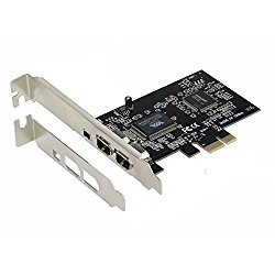 SEDNA – PCIe (PCI EXpress) 3+1 Ports 1394A (Firewire) Adapter card (VIA) (3E1I, 2x 6 Pin + 1 x 4 Pin external port) with low profile bracket