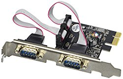 SIIG 2-Port RS232 Serial PCIe with 16950 UART (JJ-E02111-S1)