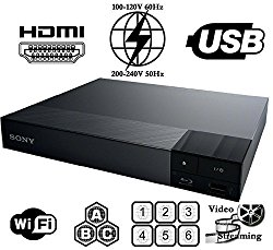 SONY BDP-S3700 High Res Audio – Built-in WiFi – Multi System Region Free Blu Ray Disc DVD Player