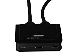StarTech.com 2 Port USB HDMI Cable KVM Switch with Audio and Remote Switch, USB Powered KVM with HDMI, Dual Port HDMI KVM Switch (SV211HDUA)