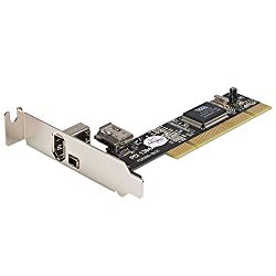 StarTech Low Profile 3 Port PCI/PCI-X FireWire400(1394a) Adapter Card (PCI1394_2LP)
