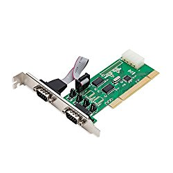 Syba SD-PCI15039 2 Port DB9 RS-232 Serial PCI Controller Card WCH351 Chipset