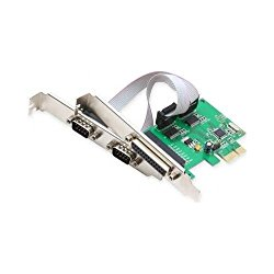 SYBA SI-PEX50054 2 Serial 1 Parallel PCI-e Controller Card with Low Profile Brackets