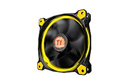 Thermaltake Riing 12 120mm LED Case Radiator Cooling Fan CL-F038-PL12YL-A Yellow
