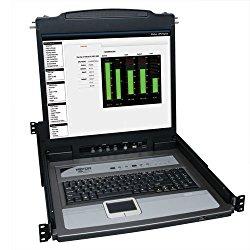 Tripp Lite B020-U08-19-K 8-Port Console KVM Switch w/ 19″ LCD & 8 PS2/USB Combo Cables