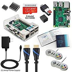 Vilros Raspberry Pi Kit with 2 Buffalo Classic USB Gamepads