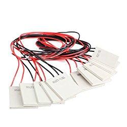 Vktech 10Pcs TEC1-12706 Thermoelectric Cooler Heat Sink Cooling Peltier 12V 5.8A