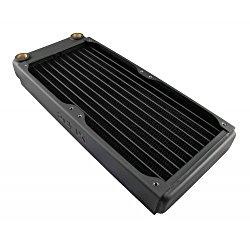XSPC EX240 2 x 120mm, Dual 120mm Low Profile Split Fin Copper Radiator – Black
