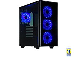 Rosewill ATX Mid Tower Gaming Computer Case, Tempered Glass Panels, Up to 420mm GPU, 360mm Liquid-cooling, 4 120mm Fans Pre-installed – CULLINAN