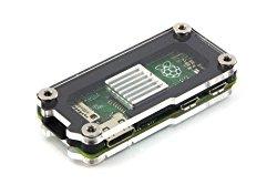 Zebra Zero for Raspberry Pi Zero ~ Black Ice T2 with Heatsink C4Labs