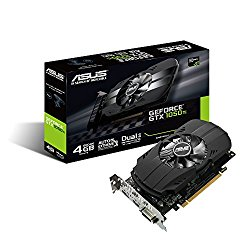 ASUS Geforce GTX 1050 Ti 4GB Phoenix Fan Edition DVI-D HDMI DP 1.4 Gaming Graphics Card (PH-GTX1050TI-4G) Graphic Cards