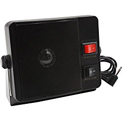 KENMAX 3.5mm Jack 10W Universal External Speaker CB Speaker for TS-750 Yaesu Vertex FT-8100R FT-2600 Kenwood NX-720 NX-800 TK-760G TK-762 TM-261E TM-271