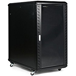 StarTech.com 22U 36in Knock-Down Server Rack Cabinet with Caster to store your Servers, Network and Telecommunications Equipment