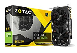 ZOTAC GeForce GTX 1070 Ti MINI 8GB GDDR5 256-bit Super Compact Gaming Graphics Card IceStorm Cooling, Metal Backplate, LED Lit ZT-P10710G-10P