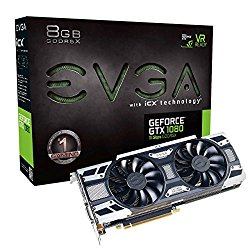 EVGA NVIDIA GeForce GTX 1080 GAMING 8GB GDDR5X DVI/HDMI/3DisplayPort PCI-Express Video Card w/ iCX – 9 Thermal Sensors & LED G/P/M