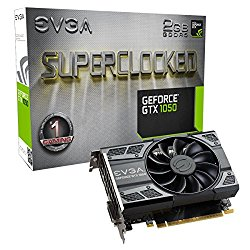EVGA GeForce GTX 1050 SC GAMING, 2GB GDDR5, DX12 OSD Support (PXOC) Graphics Card 02G-P4-6152-KR