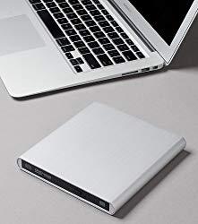 Aluminum External USB DVD+RW,-RW Super Drive for Apple–MacBook Air, Pro, iMac, Mini