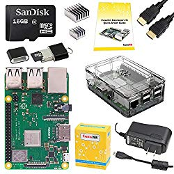 CanaKit Raspberry Pi 3 B+ (B Plus) Complete Starter Kit (16 GB Edition, Premium Clear Case)