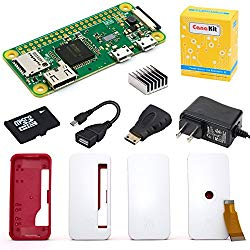 CanaKit Raspberry Pi Zero W (Wireless) Starter Kit with Official Case – 8 GB Edition