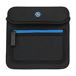 ENHANCE External Disc Drive Case USB CD DVD for LG Portable Writer , Dell DW316 R/W Optical Drive , Apple USB SuperDrive & More (up to 7 x 7 Inches) with Neoprene Construction, Accessory Storage