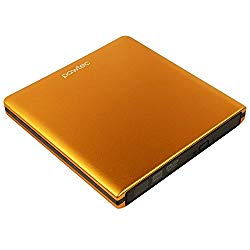 Pawtec Signature External USB 3.0 Aluminum 8X DVD-RW Writer Optical Drive with Lightscribe – ORANGE