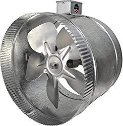 Suncourt 2-Speed 10″ Inductor In-Line Duct Fan