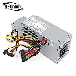 S-Union FR610 WU136 PW116 67T67 RM112 R224M 235W Power Supply for Dell Optiplex 760, 960 780 580 SFF Systems, Model Numbers H235P-00 L235P-01 L235P-00 H235E-00 F235E-00 L235ES-00