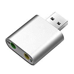 Asdf Free Drive USB External Standalone Sound Card Microphone Karaoke Headphone Converter Desktop Laptop Audio (Color : White)