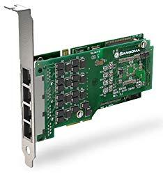 Sangoma A104DE Quad T1/E1 PCI Card with Onboard Hardware DTMF Decoding and Ec…