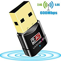 USB WiFi Adapter 600Mbps USBNOVEL Dual Band 2.4G / 5G Wireless WiFi Dongle Network Card for for Laptop Destop Win XP/7/8/10, Mac OS X 10.4-10.12.2