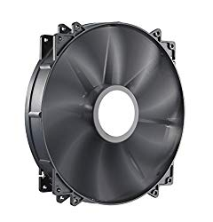 Cooler Master MegaFlow 200 – Sleeve Bearing 200mm Silent Fan for Computer Cases (Black)